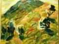 Hills in sunbeams